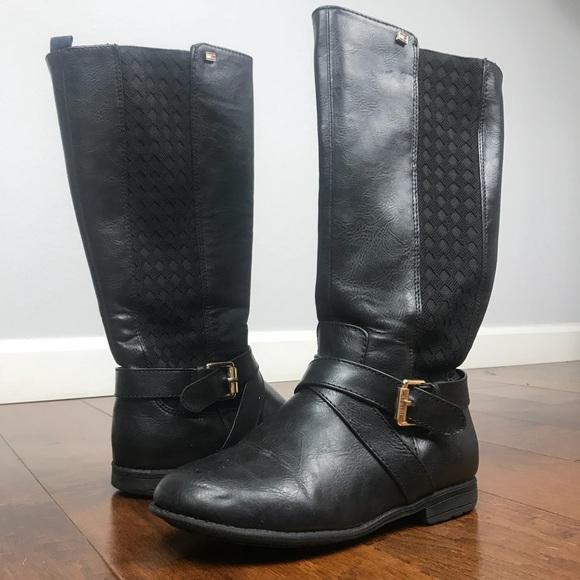 3d92c5d82c8f Hilfiger tall girls black boots. M 5be716111b3294a5e1069d04